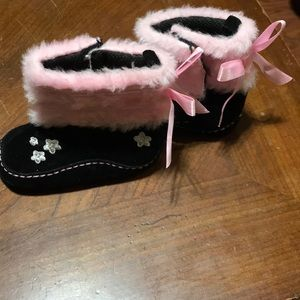 Other - Black and Pink Moccasins